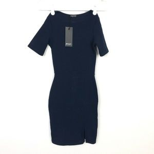 Nasty Gal Navy Dress Size 0 XS Blue Form Fitting